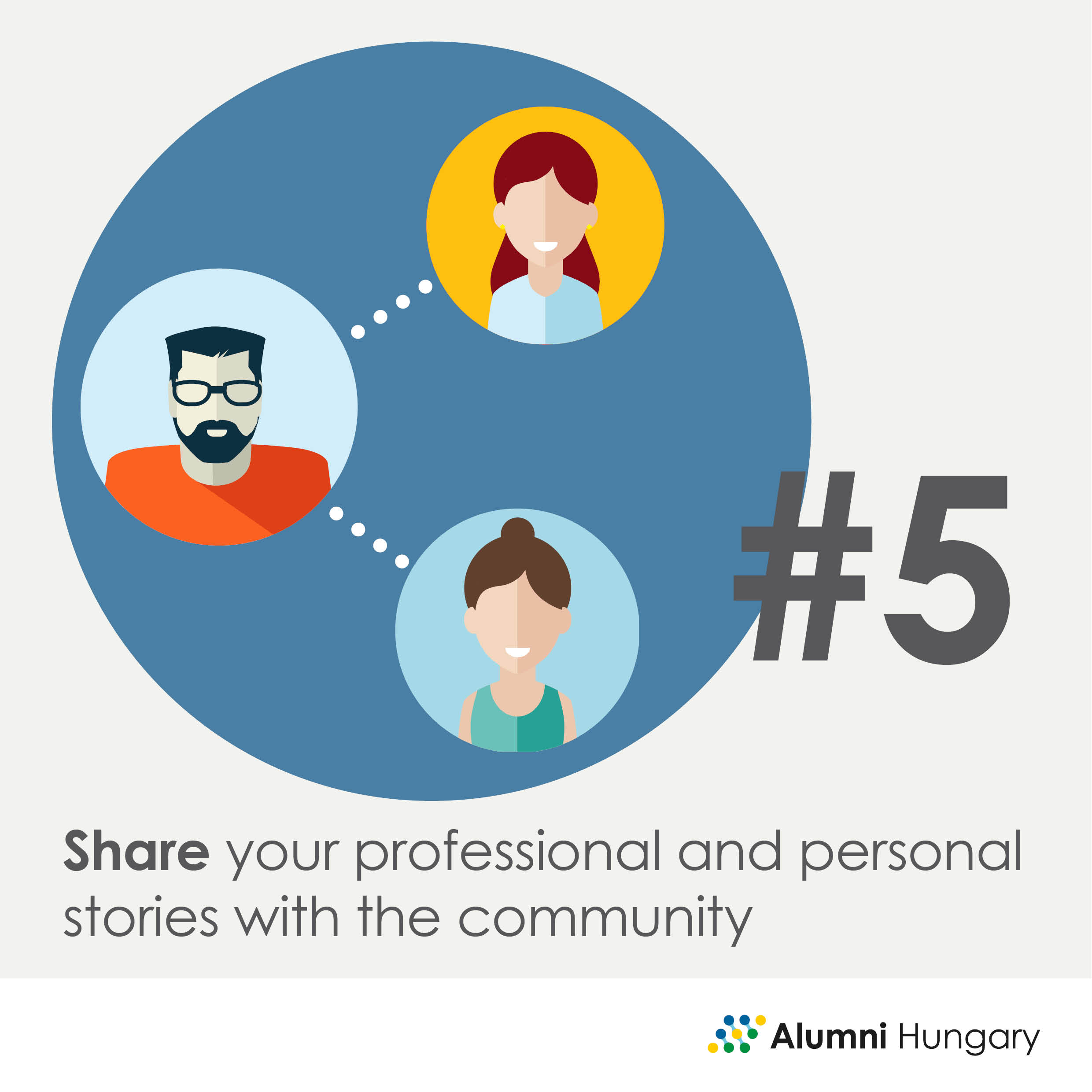 Share your professional and personal stories